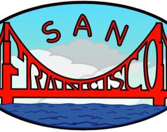 San Francisco 4.5 X 2.5 Sticker
