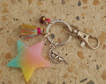 Key and star in resin