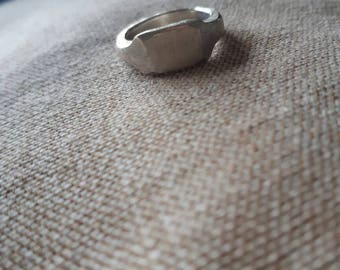 Distressed sterling silver statement ring.