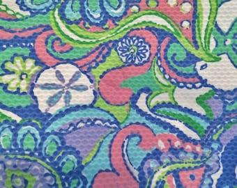 Multi Conch Republic cotton pique fabric 16 X 17 inches  ~Lilly Pulitzer~