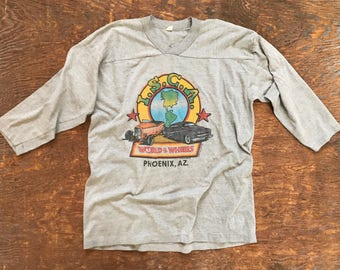 1983 World of Wheels raglan tee