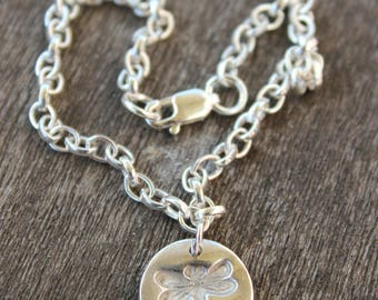 Silver dragonfly charm bracelet - silver dragonfly - dragonfly bracelet - dragonfly charm - dragonfly jewelry - handmade silver jewellery