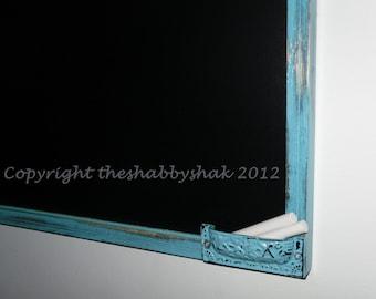 Framed Chalkboard, Aqua Blue Large Chalkboard