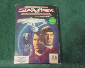 1989 Star Trek The FINAL FRONTIER Computer Game IBM