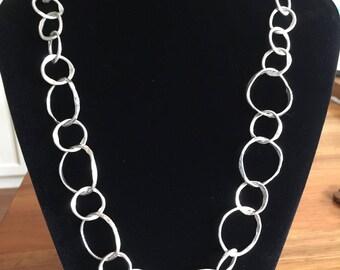 Necklace, fine silver chain