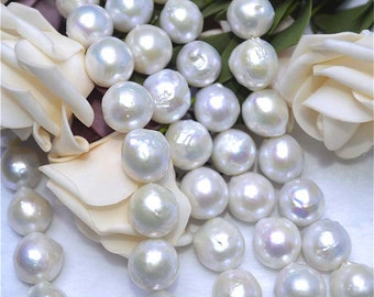 11-13mm 3A grade edision pearls necklace white color round shape pearls necklace