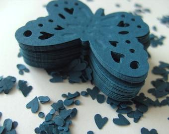 Dark teal, TEAL, 40, butterflies, scrap booking, wedding, party, confetti, butterfly, paper, By DoodleDee2 on etsy