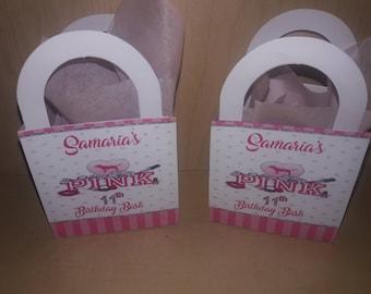 Victoria Secret Pink Favor Boxes, Pink Favor Boxes, Pink Candy Box, Pink Party Favors