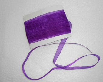 10 m of organza Ribbon 1 cm wide - purple - couture creations / doll / child / Deco
