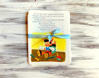 Vintage Children's Book Pages - Pinocchio