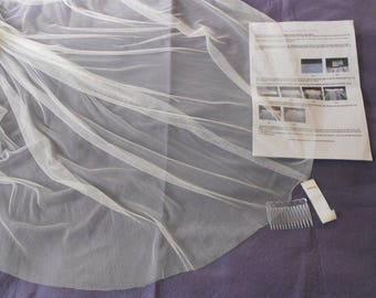 Make your own Soft Silky Polyester Tulle Veil. We provide the Kit with Full Instructions and you save a fortune