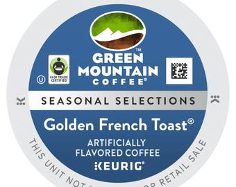 Green Mountain Golden French Toast Coffee, 96 count Keurig K cup Pods, VERY RARE, Free Shipping