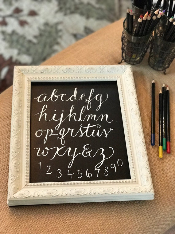 "Custom Chalkboard ""ABC's"" Heavyweight Stock Paper Art Print / Framing Available / Baby Gift / Nursery Art / Baby Shower Gift"