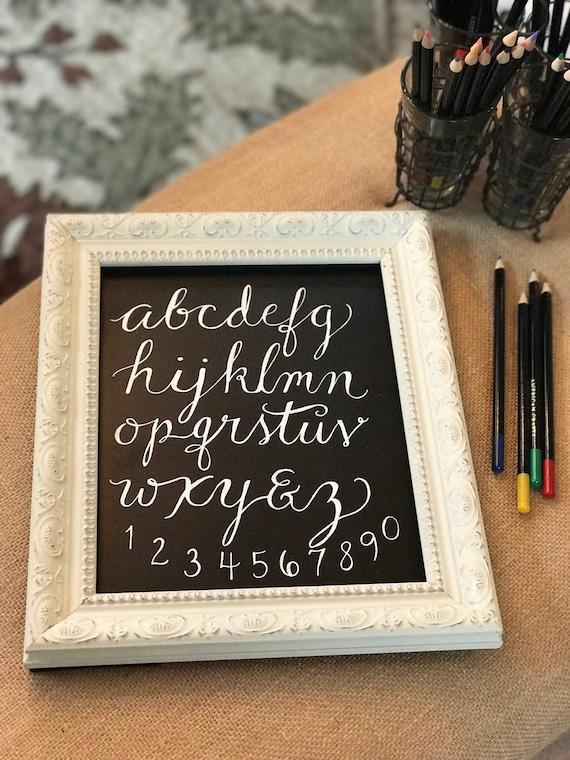 "Custom Chalkboard ""ABC's"" Heavyweight Stock Paper Art Print / Framing Available / Baby Gift / Nursery Art / Baby Shower Gift"