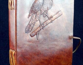 Cooper's Hawk A5 Handmade Leather Journal Diary Birdwatcher's Journal