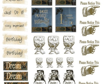 Celestial Steampunk Planner Stickers Instant Download