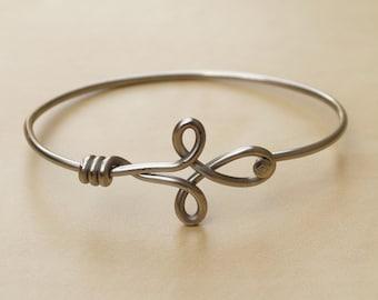 Silver Fleur de Lis Bicycle Spoke Bracelet