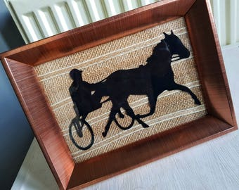 Horse Harness Racing photo frame