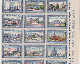 World Fair 1939- overprint 1940 New York For peace and freedom. MNH stamps orginal gum.
