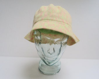 Bucket Hat with Neon Static Print