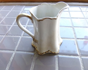 Vintage China Pitcher, K T   T China pitcher, 1920's pitcher, Antique KT&K Knowles Taylor Knowles White Ceramic Cream Water Milk Pitcher