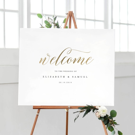 Free Wedding Sign Templates: Welcome To Our Wedding Sign Template Printable Welcome Sign
