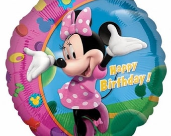 "Minnie Mouse 18"" happy birthday foil Helium Balloon"