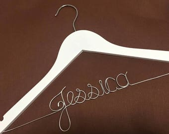 Personalized Wedding Hanger, bridesmaid gifts, name hanger,