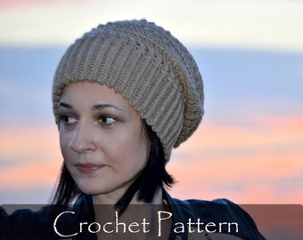 CROCHET PATTERN - Ursula Crochet Hat Pattern Women Winter Beanie Instruction Crochet Child Teen Adult Sizes Diy Pattern PDF - P0050