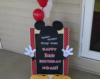 Easel Mickey Mouse Birthday Party Sign