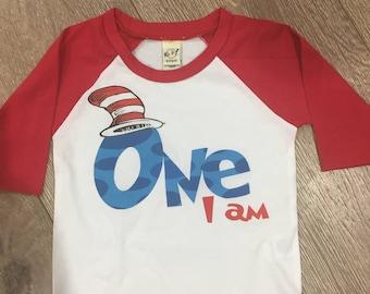 One I am Birthday Shirt, Dr Seuss 1st Birthday, Dr. Seuss Birthday Shirt, Dr. Seuss birthday, first birthday shirt