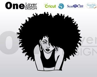 beautifull afro girl beautifull, SVG -PNG -PDF File, T-Shirt Svg, svg -Vector Art Commercial & Personal Use- Cricut,Silhouette