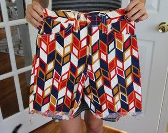 Vintage 50's Billy The Kid Chevron Children's Shorts
