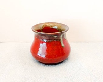 Red Glazed Ceramic Vase