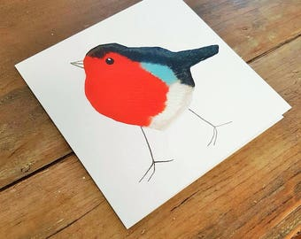 10 Robin cards, block print, printmaking, set of cards, pack of greetings cards, bird, notelets, thank you