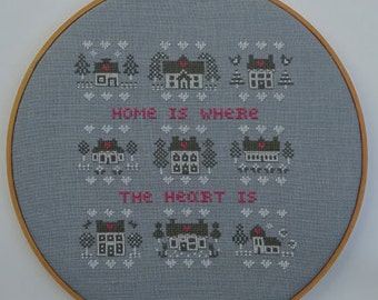 Home is where the Heart is (Instant download Cross Stitch pattern pdf)