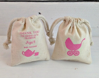Personalized Baby Shower Favors, Custom Baby Shower Favors, Girl Baby Shower Favor, Boy Baby Shower Favors, Screen Printed, Newborn Favors