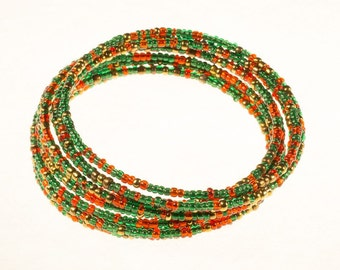 Green and Red Twirl Bracelet