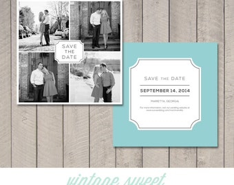 Save the Date Square Card (Printable) by Vintage Sweet