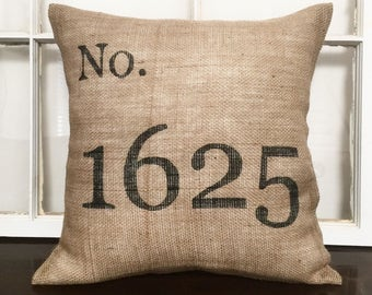 Address Number Pillow