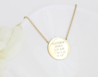 New Mom Gift | New Mom Jewelry | New Mom Necklace | Birth Certificate Necklace | New Baby | Gift for new mom | Mom Necklace | Mom Jewelry