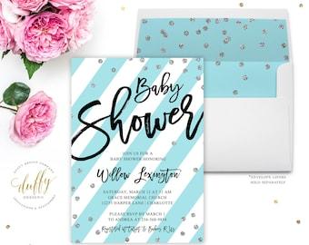 Baby Shower Invitation, Baby Boy Shower Invitation, Baby Shower Invitation Printable, Baby Shower Invitations for Boys, Baby Shower Invite