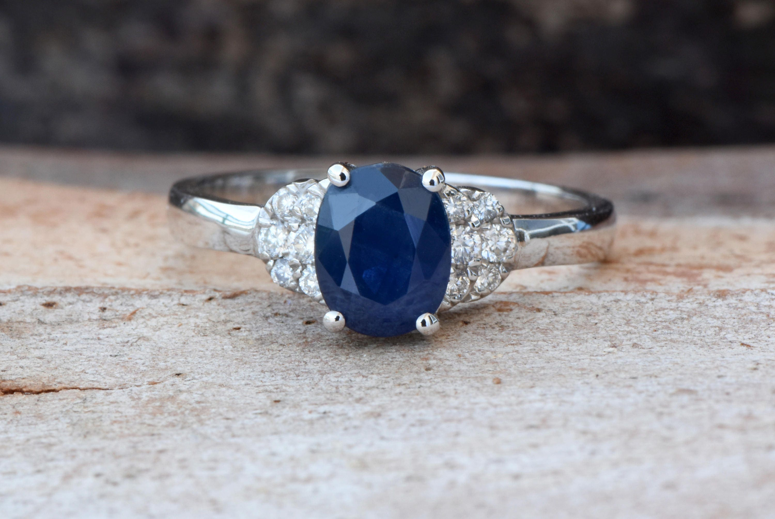 ring gauche royal blue star rive product sapphire jewelry original carat burma