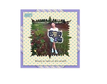 12x12 Digital Scrapbook Template (290)