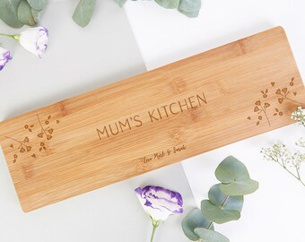 Personalised Gift for Mum Wooden Serving Board