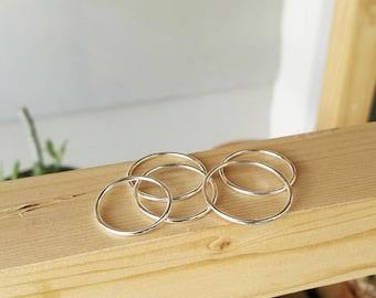 925 Sterling Silver Minimal Ring