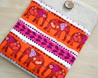 "15"" to 15.6"" Laptop Sleeves, Chromebook Sleeve Acer CLoodbook 14, HP Envy 15.6 inch, 15"" Macbook Pro Sleeve, DeLL XPS 15.6""- Elephants-"