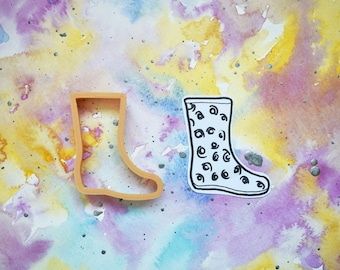 Rain Boot Cookie Cutter // 3 Sizes //