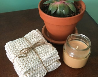 Washcloths, Dishcloths, Knit, Cotton, Eco-Friendly, Housewarming, Gift