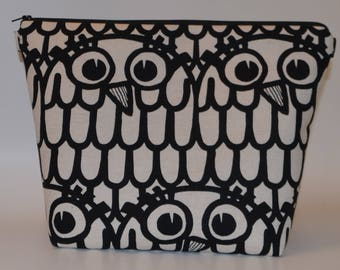 Linen Owls from Japan project bag